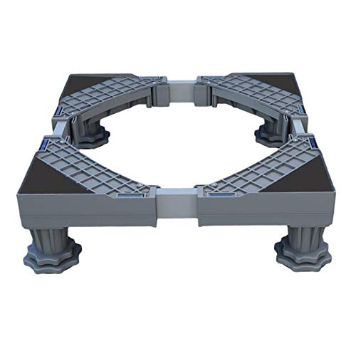 MagiDeal Soporte de lavadora ajustable soporte estable Base de nevera soporte 4 pies de elevación fuertes - Gris