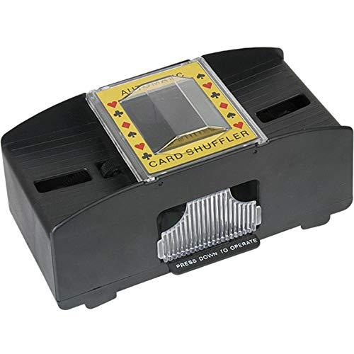 Kartenmischer Elektrisch, kartenmischmaschine 2 Decks, Mischgerät zum Mischen von Karten, auf Knopfdruck Karten sortieren, Standard, batteriebetrieben
