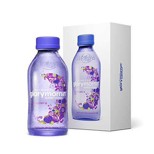 GLORY MORNIN\' SUPER VODKA - Blueberry & Acai - milder Super Premium Wodka aus Reis mit Superfruits in edler Geschenk Box - 0,35l - 40{d82d9856aeffca7e198b097a74ca82a2d40c5c00d5a6356e62da2dea9c460c51} Vol.