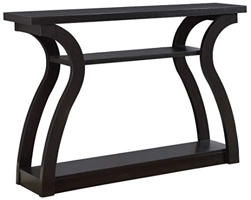 Monarch Specialties 47' Console Table - Sleek and Modern Accent Table for Your Home (Cappuccino/Dark Brown)