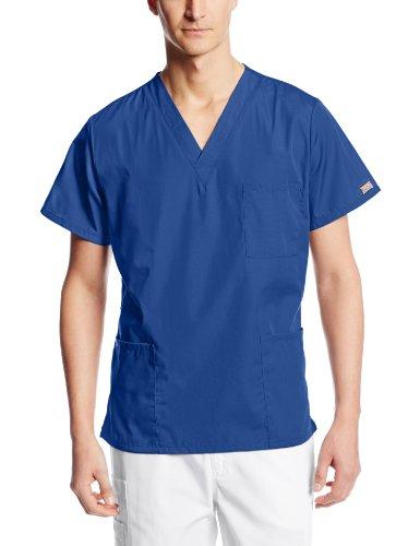 Cherokee Originals Unisex V-Neck Scrubs Shirt, Galaxy Blue, Large
