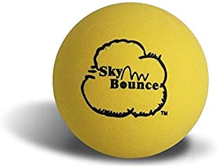Sky Bounce Color Rubber Handballs for Recreational Handball, Stickball, Racquetball, Catch, Fetch, and Many More Games, 2 1/4-Inch, Yellow, 12 Count