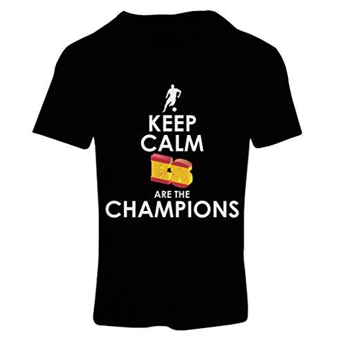 lepni.me Vrouwen T-Shirt Spanjaarden zijn de kampioenen, Rusland Kampioenschap 2018, WK - Voetbal Team van Spanje Fan Shirt