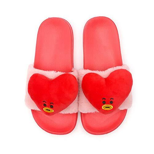 Zapatos BTS BTS a Prueba de Balas Juvenil con Las mismas Zapatillas KPOP BTS para el hogar diseño Estrella Estrella de Dibujos Animados/Estrella con la Misma párrafo Zapatillas de Moda para Hombres