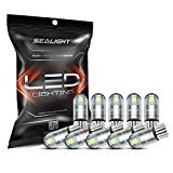 SEALIGHT 194 LED Bulbs 6000K White, 168 2825 T10 W5W 3030 Bright LED Chips, Dome Light, Map Light, Door Light, Courtesy Light, License Plate Light, Pack of 10