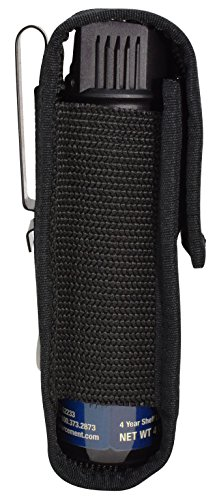 Pepper Enforcement Metal Belt Clip Tactical Holster for 4 oz. Canisters (Pepper Spray Not Included)