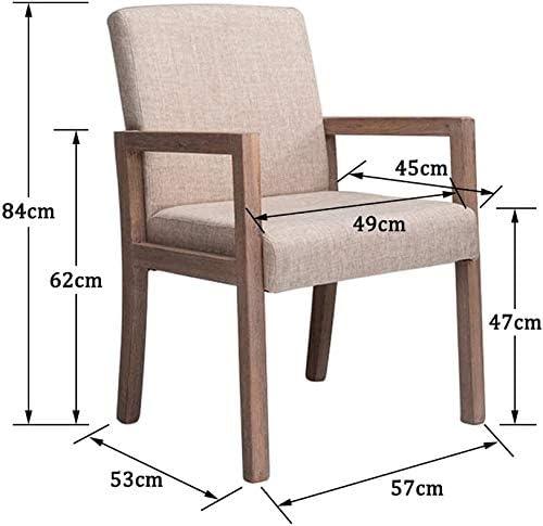 GSN Salle à manger chaise, cuisine Chaise moderne salon minimaliste, vieux bois solide dossier Fauteuil vintage dDining Chaise de café fauteuils (Color : G) S
