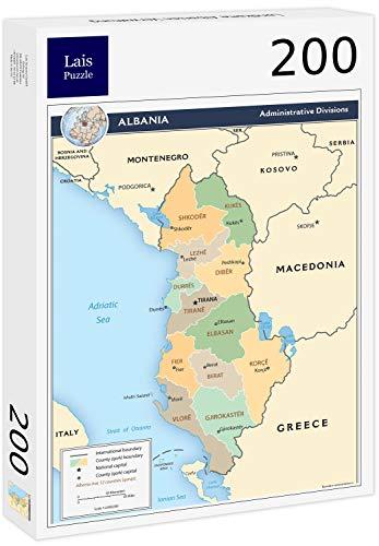 Lais puzzel Kaart van de administratie van Albanië 200 stuks