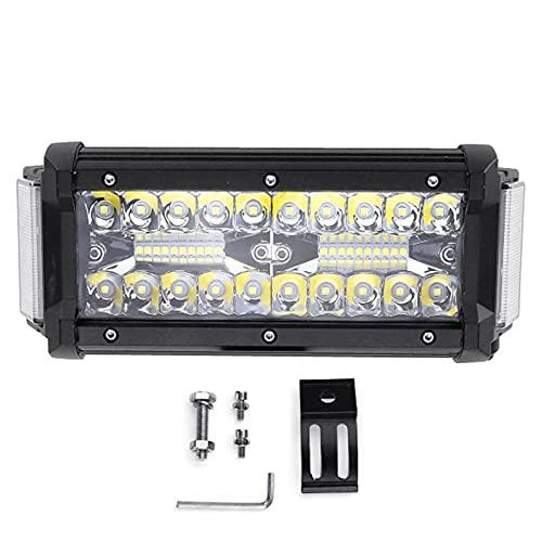 Bandas de faros del coche 7 pulgadas 168 W Dual Shooter Shooter LED LED Barra de luz Combo Offroad ATV Lámpara de conducción (Color : 1Pcs)