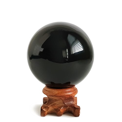 Mina Heal Obsidian Crystal Ball 60 mm / 2.4