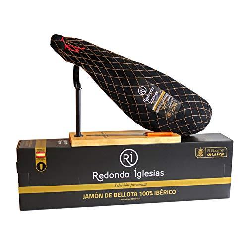 clasificación y comparación Relleno Jamón 100% Ibérico + jamonero + bellota con cuchillo para casa