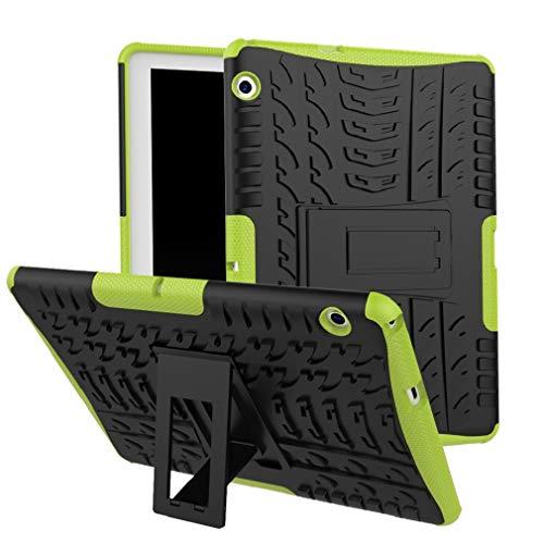 Skytar Huawei MediaPad T3 10 Cover,Ibrido Armor Protezione Dual Layer in TPU Silicone & Duro PC Custodia per Huawei MediaPad T3 10 da 9,6 Pollici Tablet Cover Caso con Il Braccio,Verde