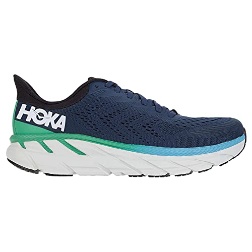 HOKA ONE ONE Mens Clifton 7 Mesh Moonlit Ocean Anthracite Trainers 7.5 US