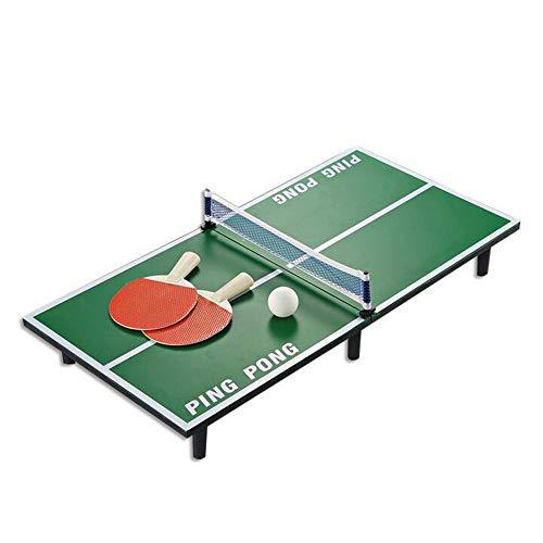 ZSDGY Mini Mesa de Ping Pong, Mesa de Billar de Tenis de Mesa para niños, Tenis de Mesa de Madera 60 × 30 × 6.5 cm