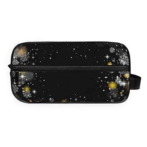 MontoJ Trousse de toilette Sac de rangement Cosmétique Merry Christmas Dream Lights Trousse de maquillage pour Voyage et maison