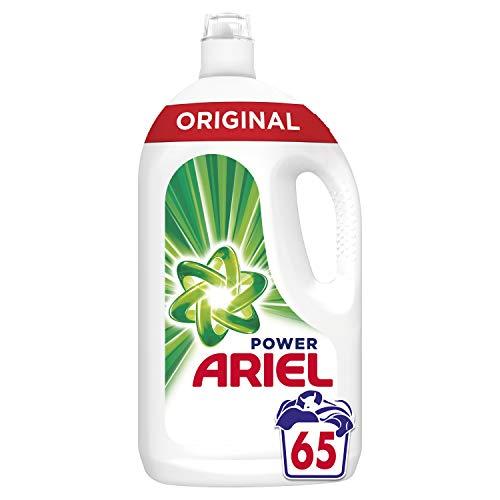 Ariel Original Lessive Liquide, Élimination des Taches et Fraicheur Intense, 65 Lavages (3.575 L)