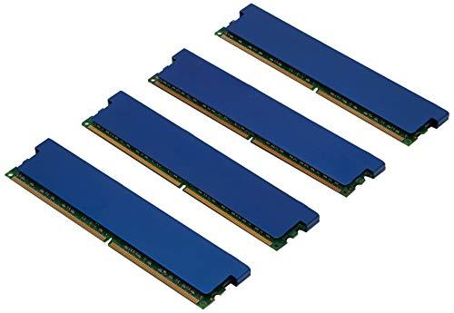 Komputerbay KB_8GB_4X2GB_800_DIMM_CL5_REDHS - Memoria DDR2 DIMM (240 pines) para ordenadores de escritorio 8GB (4x 2GB) 800MHz PC2-6300 PC2-6400 con esparcidores de calor en color rojo para refrigeración extra, CL 5-5-5-18