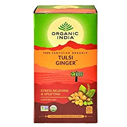 Vegetarian Shelf Life: 24 Months Ingredients: Tulsi and Ginger Pack Content : 3 Tea Boxes each with 25 Tea Bags Enjoy the Original and Authentic Taste of India sourced fresh directly from the manufacturers and delivered to your doorstep within 3 to 5...