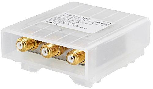 Venton 2/1 DiseqC Schalter Switch HD 3D 4K 2 Eingänge 1 Ausgang Umschalter für LNB Signal mit Wetterschutzgehäuse 2 Satelliten 1 Teilnehmer Sat-Receiver