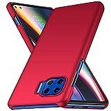 Avalri Funda Moto G 5G Diseño Minimalista Estuche Rígido Ultra Delgado de PC a Prueba de Golpes Resistente a Rasguños Cover para Motorola Moto G 5G (Rojo)