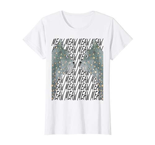 Damen meaw catze t-shert T-Shirt
