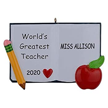 Personalized World s Greatest Teacher Christmas Ornament