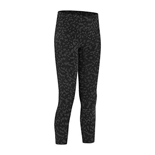 Lihcao Pantalones de yoga para mujer, cintura alta, adelgazante, pantalones de fitness (color: negro estampado de leopardo, talla: 8)