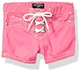 XOXO Girls' Little Stretch Twill Short, Lace up Pink, 5