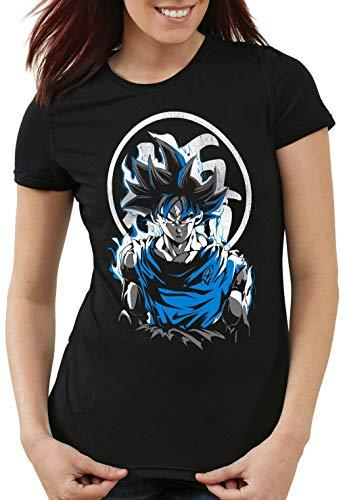 style3 Super Saiyan God Blue Camiseta para Mujer T-Shirt Vegeta dragón, Talla:2XL