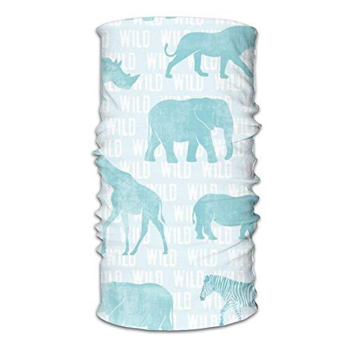 Unisex multifunctionele gezichtssjaal Wild Safari Baby blauwe dieren Bandana's, sport- en casual hoofddeksels Halsbeenbeschermers Headwrap Bivakmuts Hoofddoek