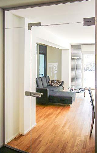 Glas-Raumteiler PARTITION DOOR 215 von BE GLASS. Als Windfang, Portal oder Glastrennwand. Anfertigung nach Maß.