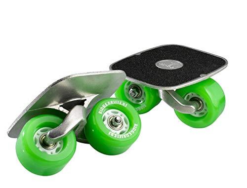 Drift Freeline Skates mit 70mm Räder und ABEC 7 Kugellager (Grün)