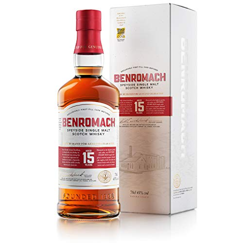Benromach 15 Years Whisky Speyside Single Malt Scotch Whisky in Geschenkpackung (1 x 0.7 l)