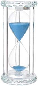 HUIJUNWENTI Crystal Hourglass Timer, 15 Minutes Creative Decoration, Birthday Gift Decoration Glass Desktop Small Decoration Living room decoration (Color : Blue)
