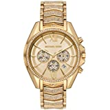 Michael Kors Women's Whitney Quartz Watch with Stainless Steel Strap, Gold, 20 (Model: MK6729)