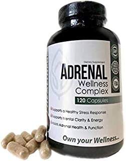Adrenal Wellness Complex -with Natural Ingredients to Support a Healthy Stress Response, Mental Clarity