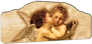 Lupia - Marco capezzale 'Angels', sobre tabla hecho el primer beso, 42 x 92 cm