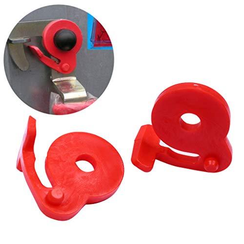 Flamedre - STEMA-Sicherung 1 Paar STEMA-Sicherungen für Seitenwandschlossanhänger Basic RED Ersatz