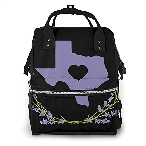 of baby lovess baby bags for moms Texas State Bluebonnet I Love Large Diaper Bag Backpack, Multifunctional Waterproof Mummy Backpack for Maternity Moms Dads
