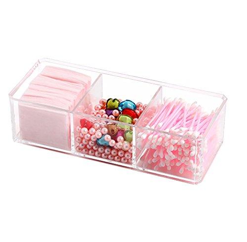 Scrox 1 Pcs Boîte de Rangement cosmétique Acrylique Boîte d'affichage de Stockage de Rouge à lèvres Boîte de Rangement cosmétique Papier de Maquillage Stockage de Coton-Tige Boîte à Bijoux