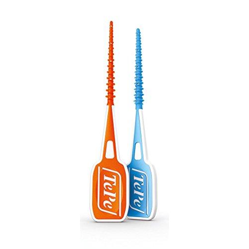 Tepe Easypick Interdentalbürsten Probier-Set, S-XS und M-L | blau und orange | 2x 36er Packung