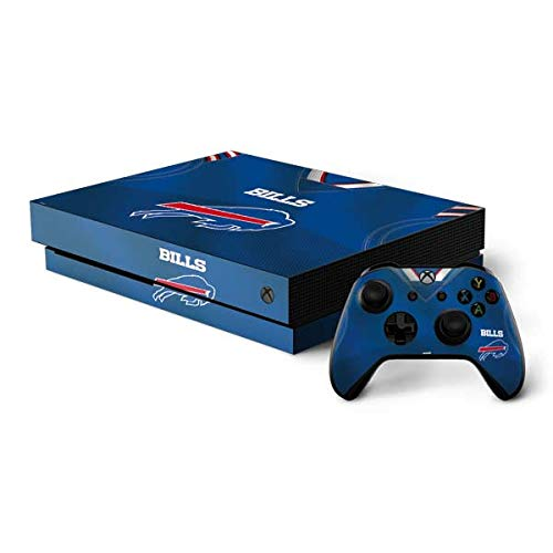 Skinit Decal Gaming Skin Compatible with Xbox One X Console and Controller Bundle - Officially Licensed NFL Buffalo Bills Team Jersey Design