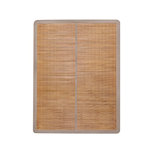 La première couche de tapis vert de bambou Tapis de bambou pliable exquis double tapis sans bavure 1.5 * 2 mètres de lit de bambou Mat fin de ponçage, lisse et délicat doux pour la peau Xuan - worth having