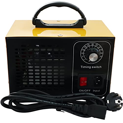 ATWFS Industrial Generador de Ozono Purificador de Aire, 48.000 mg / h 60.000 mg / h Desodorizador de Ozono con Temporizador de 60 Minutos, Limpia Más de 300㎡ (Amarillo, 60000mg/H)