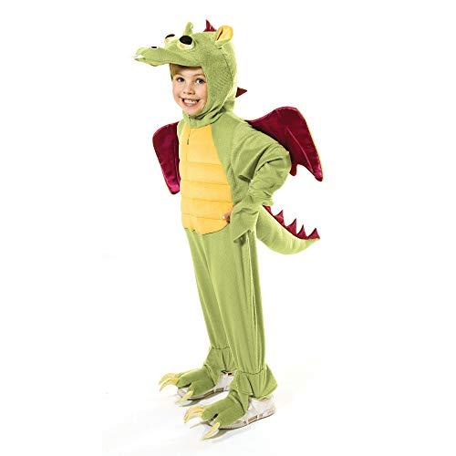 Bristol Novelty CC891 Drachen Kostüm, Grün, Jungen, Medium, 128 cm