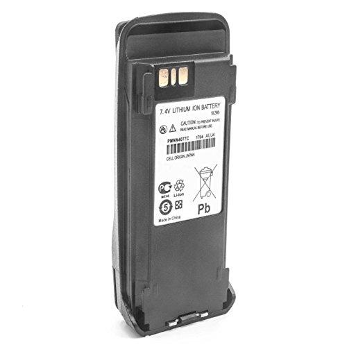 vhbw Li-Ion batería 2600mAh (7.4V) con Pinza para el cinturón para Radio, walkie-Talkie Motorola MOTOTRBO XiR 8268, XiR P8200, XiR P8208, XiR P8260