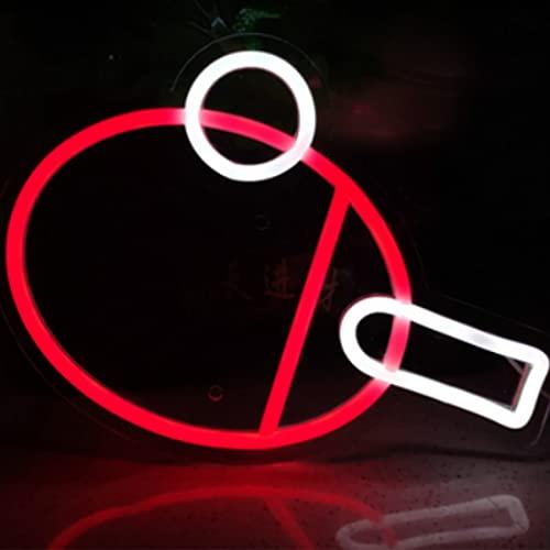 Jinson well Lámpara de ping pong, con signo de neón, decoración para mesita de noche, letreros de neón, para bodas, dormitorio, como regalo, para niños, decoración de juguete