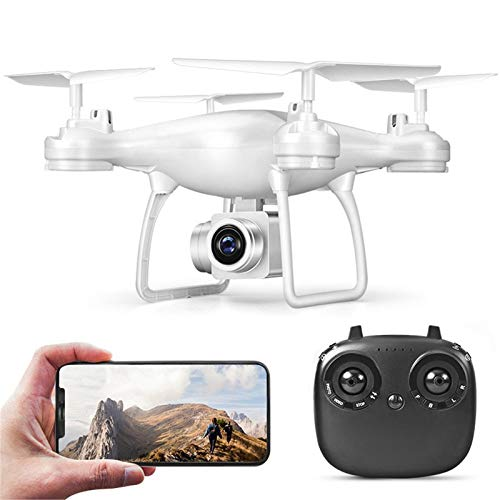 GUbaliYA Drone with Camera for Adults - TXD-8S Mini Drone Quadcopter 2.4GHz Drones Remote Control Helicopter Airplane,Surround Flight,One Key Take Off, Headless Mode, Real-time Transmission (White)