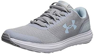 Under Armour Women's Surge Running Shoe, Mod Gray (105)/White, 5