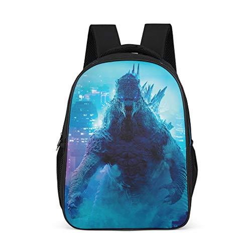 Godzilla Women's&Men's Backpacks Boys Girls School Book Bags for College Work Bright Gray OneSize